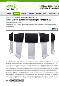 India's Innovative Standee - Digital Talking Standee
